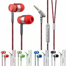3.5mm Stereo Earbuds Headphone Earphone Headset With MIC For iPhone Cell Phone