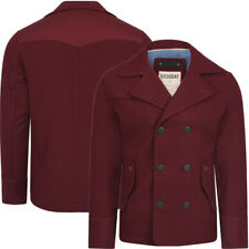 Dissident wool rich Baughman red double-breasted jacket coat Size S-XL