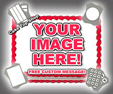 YOUR PHOTO LOGO EDIBLE IMAGE CUSTOM Cake Topper Frosting Sheet Personalized
