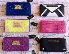 NWT Juicy Couture Zip-around Wallet / Clutch / Purse leather or nylon options