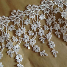 1Y White Black Red Venise Lace Trim for Wedding Bridal Accessories Beatiful