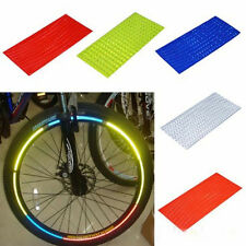 Hot Fluorescent MTB Bike Bicycle Cycling Wheel Rim Stickers Reflective Decal