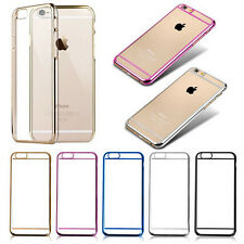 Slim Electroplated Clear Transparent Hard Case Cover For Apple iPhone 6 & 6 Plus