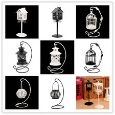 Black/White Antique Style IRON Hanging Stand Candle Holder Tea Light Candlestick