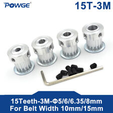 15 Teeth HTD 3M Timing Pulley Bore 5mm for Width 15m 3M Timing Belt 15teeth 15T