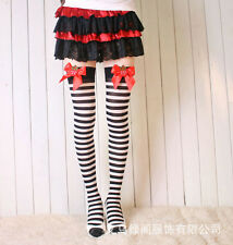 2015 New Hot Christmas Xmas Women Sexy Bowknot Striped Stockings Thigh-Highs