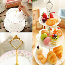 1 Set 2 or 3 Tier Cake Plate Stand Handle Crown Fitting Metal Wedding Party Nice