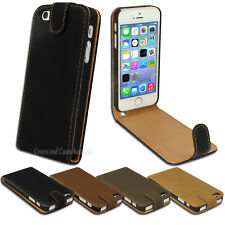 Faux Suede Leather Flip Cover for Apple iPhone 4S 4 5S SE 5 Synthetic Case