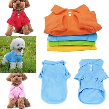 HOT T-Shirt S-XL Pet Puppy Summer Polo Shirt Dog Cat Pet Clothes Costume Apparel