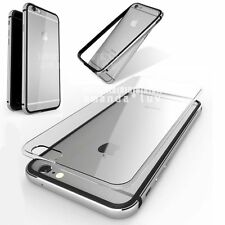 For Apple iPhone 6 6s Plus Shockproof Aluminum Bumper Hard Clear Case Slim Cover