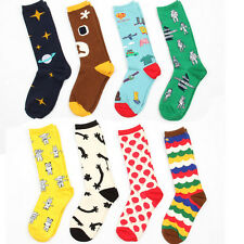 3 Pairs Lot Mens Womens Socks Cotton Warm Colorful Casual Fashion Dress Socks