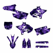 2002 - 2014 YZ125 YZ250 Graphics UFO Restyled kit #9500-Purple Zombie Skull
