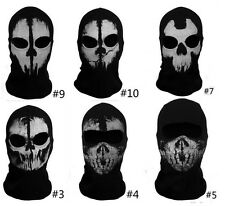 Call Of Duty Balaclava Ghost Skull Face Mask Biker Skateboard Hood Ski Cosplay