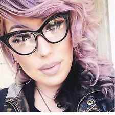 Full Frame Cat Eye Women Eyeglasses Clear Lens Retro Style Glasses Black Brown