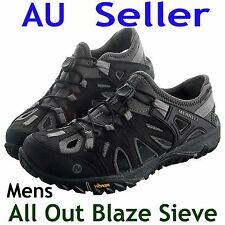 MERRELL ALL OUT BLAZE SIEVE MENS CASUAL SANDAL SHOES BLACK US 7~11