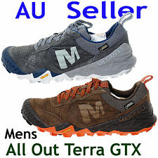 MERRELL ALL OUT TERRA GORE TEX MENS CASUAL RUNNING SHOES Brown / Grey US 7~11