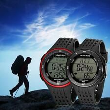 New 10-in-1 Fitness Heart Rate Monitor Calories Counter Wrist Watch Chest Strap