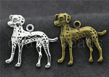 New 5/20/100pcs Antique Silver Lovely Dalmatians Jewelry Charms Pendant 29x29mm