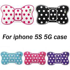 New 3D Cute Lovely Bow Tie Soft Silicone SkinCase Cover For Apple iPhone 5 5S