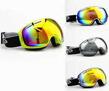 Men Womens Dual Lens Anti Fog UV Mirror Tinted Snowboard Ski Snow Winter Goggles