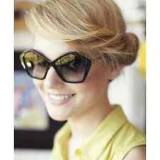 Large Oversized Vintage Sunglasses Women Retro Frames Black and Brown Shades