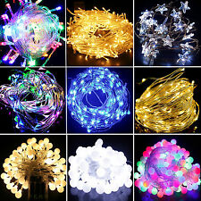 LED Battery Operated Christmas Night Lights Fairy Lights Show String Bulbs