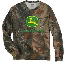 NEW John Deere Camo Crewneck Sweatshirt Sizes XL 2X