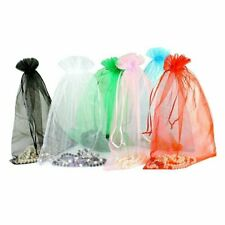 50 PCS Sheer Organza Wedding Party Decoration Favour Gift Bags Candy Pouches
