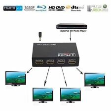 Full HD 1x2 / 1X4 Port HDMI Splitter Amplifier Repeater Switcher 1080p Box Hub