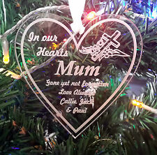 In Memory Decoration Tree Bauble Christmas Gift Engraved Personalised