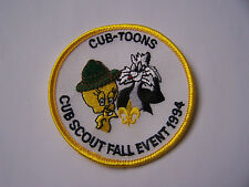 Boy Scouts of America (BSA) CUB-TOONS / CUB SCOUT FALL EVENT 1994 Patch
