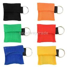 6-colors Rescue CPR Mask Keychain Key Ring SOS Emergency Face Shield First Aid