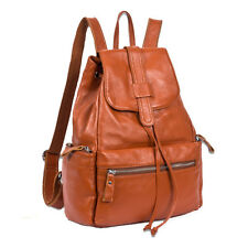 New Rucksack Genuine Leather Women Shoulder Bag Satchel Backpack Travel Knapsack