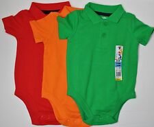 NWT GARANIMALS Boys Baby Clothes Collared Bodysuit NB 0/3 3/6  *U Choose*