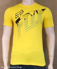 Fox Racing Torch Pass Graphic Tee Mens Yellow Regular Fit Crew T-Shirt New NWT