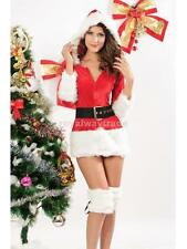 Sexy Women Ladies Mrs Santa Claus Dress Christmas Holiday Adult Costume Cloth