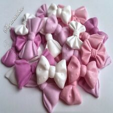 24 Edible sugar rbbons bows cake cupcake toppers decorations
