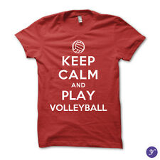 Keep Calm and Play Volleyball - volley, volleyball, beach, match, ball, sports