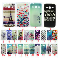 Colorful Pattern Rubber Silicone Gel Cover For Samsung Galaxy Soft TPU Back Case