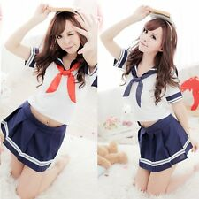 New Japanese School Girl Students Sailor Uniform Cosplay Sexy Anime Costume