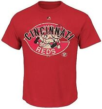 Cincinnati Reds MLB Majestic League Domination Men's Red Shirt Big & Tall Sizes