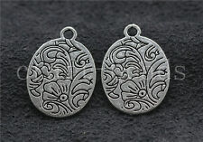 40/200pcs Tibetan Silver exquisite Flower Jewelry Charms Pendant Craft 21x15mm
