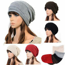 DREADLOCK SLOUCH WINTER BERET BRAIDED BAGGY KNIT CROCHET BEANIE HAT SKI CAP