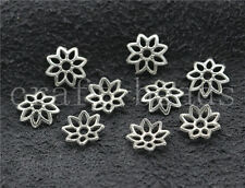200/1000pcs Tibetan Silver Flower Bead Caps Jewelry Charms Beads Cap DIY 8.5mm