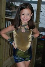 Blue gold open modern  custom  competition dance costume , CSM rhinestones