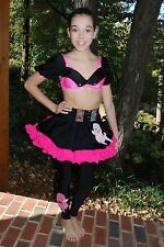 Pink & Black custom competition dance costume, 50's, Pageant Fashion, CL/AXS