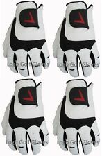 4 Cabretta Leather Golf Gloves V Logo 5 Sizes Small Medium M/L Large Extra XL