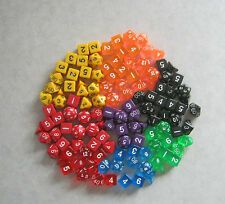 12x Sets of 7 +3d6 NEW RPG Dice: Over a Pound! Bulk, assorted die lot.