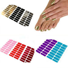 Hot 16Pcs DIY Nail Art Sticker Patch Foils Tips Decoration Manicure 8Metal Color