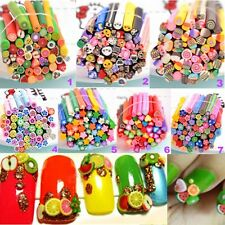 50x DIY 3D Nail Art Fimo Canes Stick Rod Polymer Clay Stickers Tips Decoration